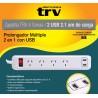 ZAPATILLA ELECT 4 TOMAS + 2 USB TRV